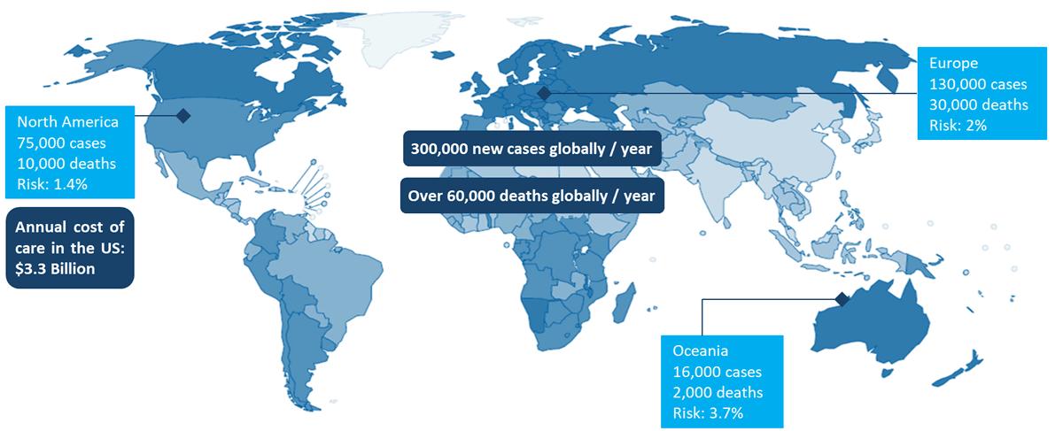 Malignant melanoma map